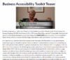 Business Accessibility Toolkit Teaser